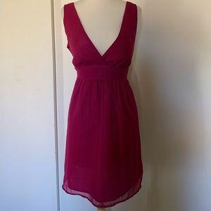 Magenta semi formal dress